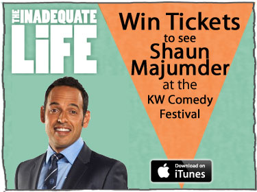 Kitchener-Waterloo Comedy Festival Contest, Shaun Majumder, centre in the square